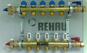 Изображение  Распределительный коллектор REHAU HKV-D с расходамерами  2контур