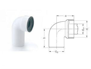 Изображение ОТВОД RAUPIANO ДЛЯ УНИТАЗОВ ∅ 110/90° для внутренных канализационных систем