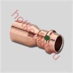 Изображение Муфта однораструбная редукционная надвижная под пресс Viega PROFIPRESS для медных труб ∅ 28 x 22