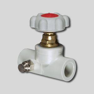 Изображение Вентиль полипропиленовый со сливным клапаном  ∅ 20 FV-PLAST