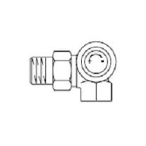 """Изображение Вентиль для термостатов (М30х1,5) правый 1/2""""угловой oventrop 118 04 93"""