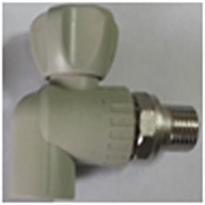 Изображение Кран ППР  шаровой радиаторный угловой ∅ 20х1/2 FV-PLAST