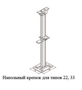 Изображение Напольный кронштейн для типов 22, 33 высота 400 мм Buderus