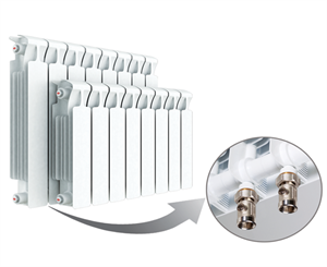 Изображение Биметаллический радиатор RIFAR MONOLIT Ventil 500 правое нижнее подключение 4 секции