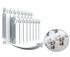 Изображение Биметаллический радиатор RIFAR MONOLIT Ventil 500 правое нижнее подключение 8 секции