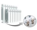 Изображение Биметаллический радиатор RIFAR MONOLIT Ventil 350 правое нижнее подключение 4 секции