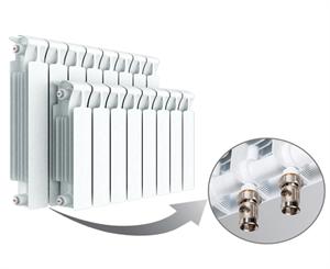 Изображение Биметаллический радиатор RIFAR MONOLIT Ventil 350 правое нижнее подключение 8 секции