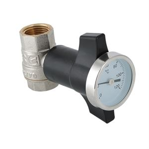 Изображение Кран шаровой c термометром