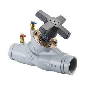 Изображение Hydrocontrol VGC, рег. Вентиль Ду65 круглый желоб для соед. муфты 76,1мм,PN16, GG25, Oventrop 1064051