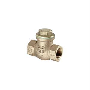 """Изображение Обратный клапан с прямой врезкой Ду 15, G 1/2""""ВР, PN16, бронза/латунь, Oventrop 1075004"""