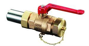 """Изображение Optibal шар. кран с рычажной рукояткой Ду25, 1 1/4""""НР,PN40,бронза,сальная втулка под сварку,колпачок, Oventrop 1066508"""