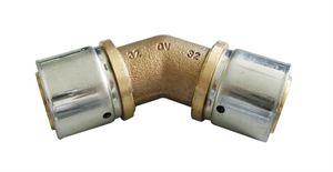 Изображение Cofit P-прес. угольник 45° 32 x 32 мм,бронза/нерж. сталь, Oventrop 1512949