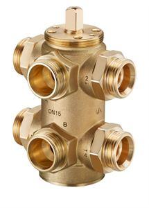 """Изображение """"Optibal W6"""" Six-way ball valve DN15, PN16, AG mit Eurokonus, Oventrop 1132004"""